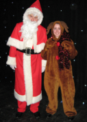 Father Christmas and Rudolf the Reindeer at a Christmas Concert