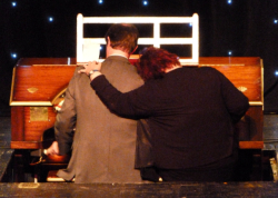 The end of Jazz Night - Liane Carroll joins Michael Wooldridge to take the Wurlitzer back down into the pit!