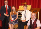 ATOS UK Young Theatre Organist of the Year Competition 2014 - Jamyma 2nd, Thomas Winner, with Michael and Richard - Fentham Hall