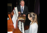 Jamyma receives coaching from Los Angeles Organist Tony Wilson - May 2015