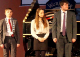 Winner Declan Poole, 2nd Jamyma Hanson and 3rd Lewis Scott at the East Sussex National Wurlitzer in a concert featuring the three top placed entrants to the ATOS UK YTOY Competition - April 2016