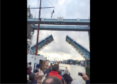 Passing under Tower Bridge - Trip playing aboard the historic Motor Vessel Balmoral - Rye to London - June 2016