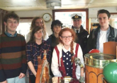 On the bridge of the Balmoral - Trip playing aboard the historic Motor Vessel Balmoral - Rye to London - June 2016