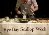 Rye Bay Scallop Week Cookery Demonstration and Old Time Music Hall Evening February 2013