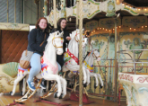 Abbie and Jamyma on the famous North Pier Carousel - RWA Northern Tour April 2013