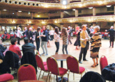 Students join the dancing at the Blackpool Tower Ballroom - RWA Northern Tour April 2013