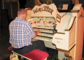 Richard tries the Wurlitzer - Blackpool Tower Ballroom - RWA Northern Tour April 2013