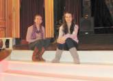 Chantelle and Jamyma sit on the stage! - Blackpool Tower Ballroom - RWA Northern Tour April 2013