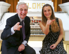 Len Rawle MBE in concert at the Ipswich Christie with RWA Student Jamyma Hanson